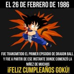 Cumpleaños de dragon ball