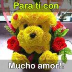 Letra bonita con rosas de amor
