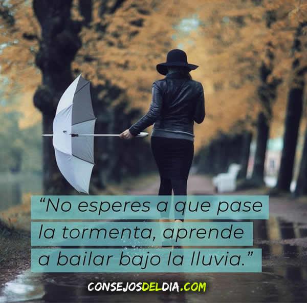 lluvia frases