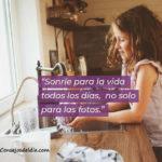 Frases sonrie para siempre