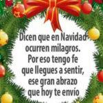 Frases con Imagenes: Milagros en Navidad