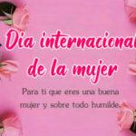 Dia internacional de la mujer 2021 con mensajes